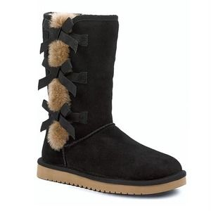 Koolaburra by Ugg   Tall Black Bow Boots